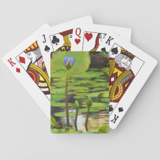 Peaceful Pond- Water Lily Playing Cards