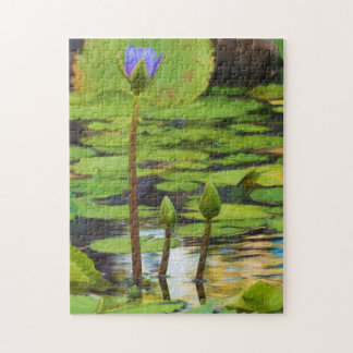 Peaceful Pond Water Lily Puzzle