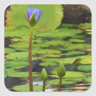 Peaceful Pond- Water Lily Sticker