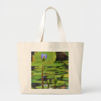 Peaceful Pond- Water Lily Tote Bag