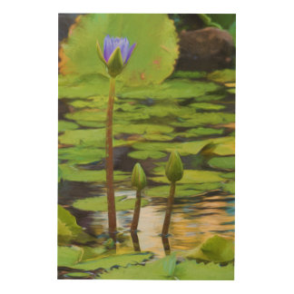 Peaceful Pond- Water Lily Wood Wall Art