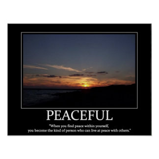 peaceful poster motivator and inspiration posters