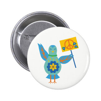 Peaceful Protest Bird Pin