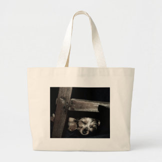 Peaceful Puppy Large Tote Bag