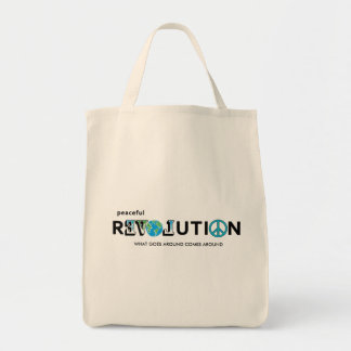Peaceful Revolution LOVE EARTH TOTE BAG