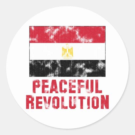 Peaceful Revolution Vintage Classic Round Sticker