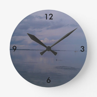 Peaceful River Dolphins Wall Clocks