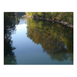 Peaceful River Reflections Postcard