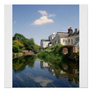 Peaceful River Scene Greetings Card Perfect Poster