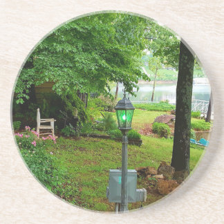 Peaceful Scenic Lakefront View Drink Coaster