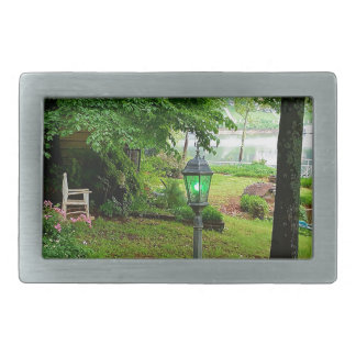 Peaceful Scenic Lakefront View Rectangular Belt Buckles