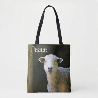 Peaceful Sheep Tote Bag