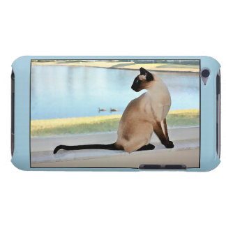 Peaceful Siamese Cat Painting iPod Touch Case