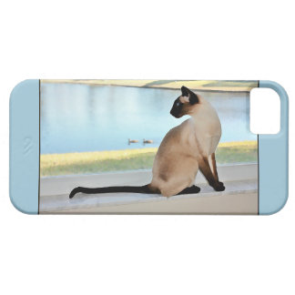 Peaceful Siamese Cat Painting iPhone 5 Cases