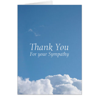 Peaceful Sky 1 Sympathy Thank You note card