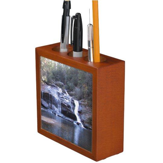Peaceful Smoky Mountain Waterfall Desk Organizer