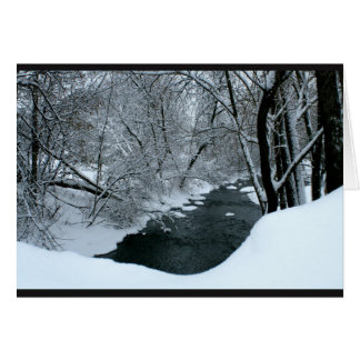 Peaceful Snowy River Scene Thinking Of You Card