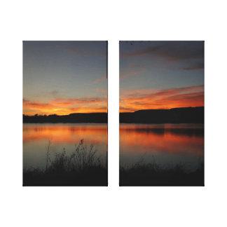 Peaceful Sunset Lake Scott State Park Canvas Print