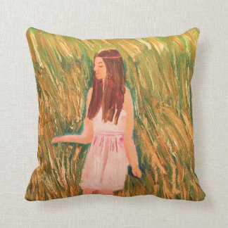 Peaceful thinking throw pillow