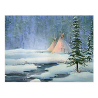 PEACEFUL TIPI by SHARON SHARPE Postcard