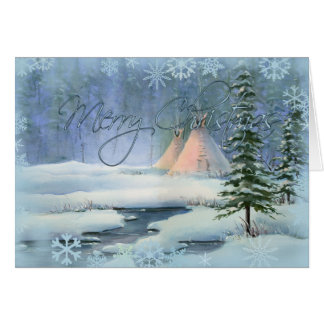 PEACEFUL TIPI CHRISTMAS by SHARON SHARPE Card