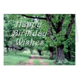 Peaceful Walk Birthday Card