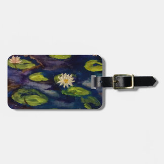 Peaceful Water Lillies Bag Tag