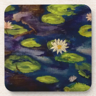 Peaceful Water Lillies Beverage Coasters