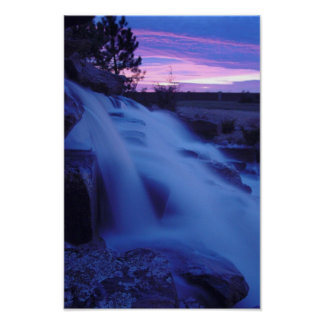Peaceful Waterfall Poster