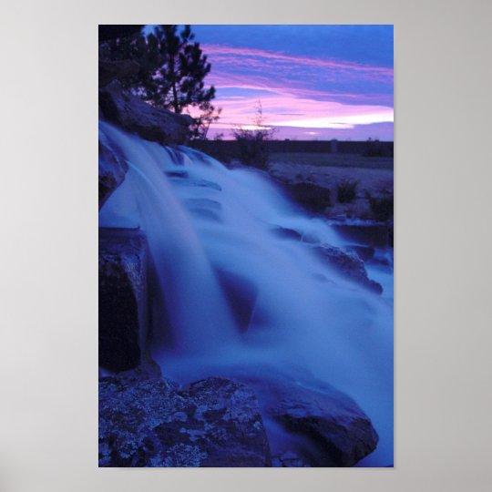 Peaceful Waterfall Poster