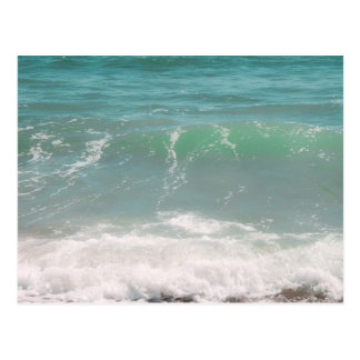 Peaceful Waves Blue Green Sea Beach Photography Post Card