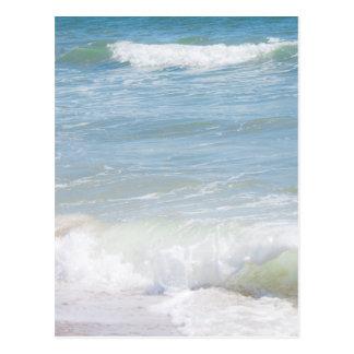 Peaceful Waves Blue Sea Beach Photography Postcard