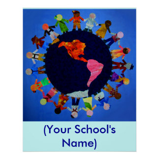 Peaceful World Children - Customizable Poster