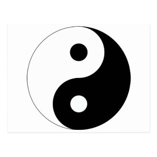 Peaceful Yin Yang Postcard