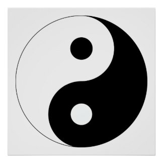 Peaceful Yin Yang Poster