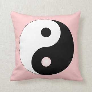 Peaceful Yin Yang Throw Pillow