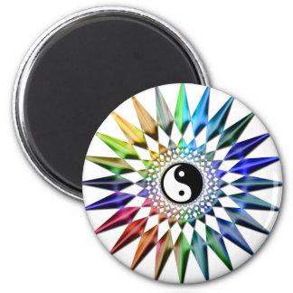 Peaceful Yin Yang Zen Yoga Colorful Meditation Tao Magnet