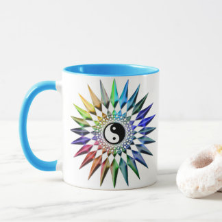 Peaceful Yin Yang Zen Yoga Colorful Meditation Tao Mug
