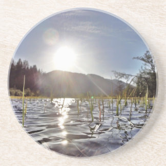 Peacefull Waters in Trout Lake Beverage Coasters