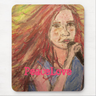 PeaceLove Rocker Girl Mouse Pad