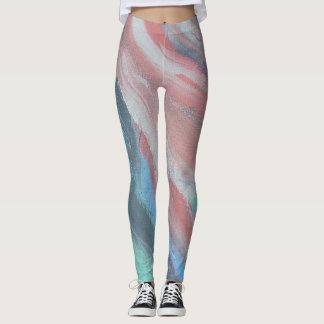 Peach Abstract Art Leggings