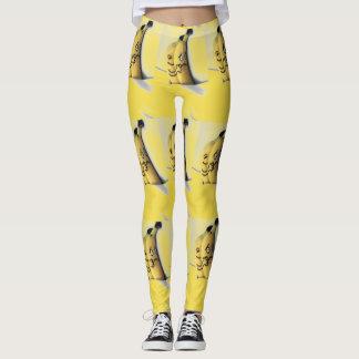 peach and banana leggings