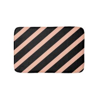 Peach and Black Bath Mat
