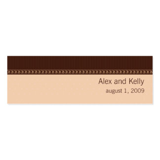 Peach and Brown Wedding Website Business Card