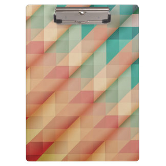 Peach and Green Abstract Geometric Clipboard