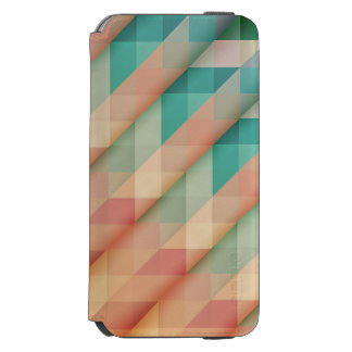 Peach and Green Abstract Geometric Incipio Watson™ iPhone 6 Wallet Case