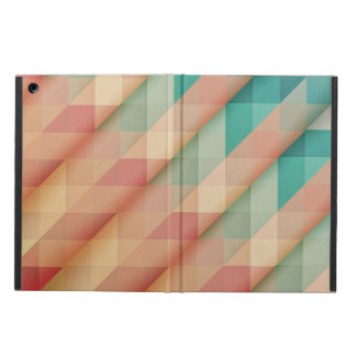 Peach and Green Abstract Geometric iPad Air Cover
