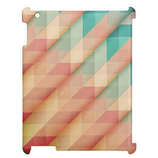 Peach and Green Abstract Geometric iPad Case