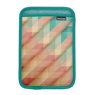 Peach and Green Abstract Geometric iPad Mini Sleeve