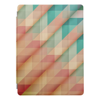 Peach and Green Abstract Geometric iPad Pro Cover